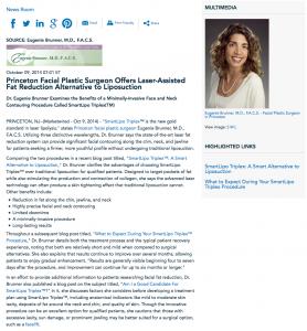 SmartLipo Triplex, Princeton facial plastic surgeon, facelift, Dr. Brunner