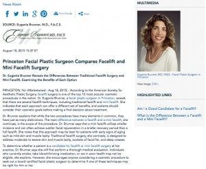 facelift,mini facelift,facial rejuvenation,anti aging treatment,dr eugenie brunner,s lift,face lift