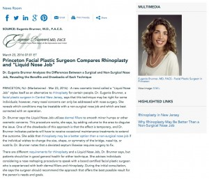 Dr. Eugenie Brunner compares rhinoplasty and the non-surgical nose job.