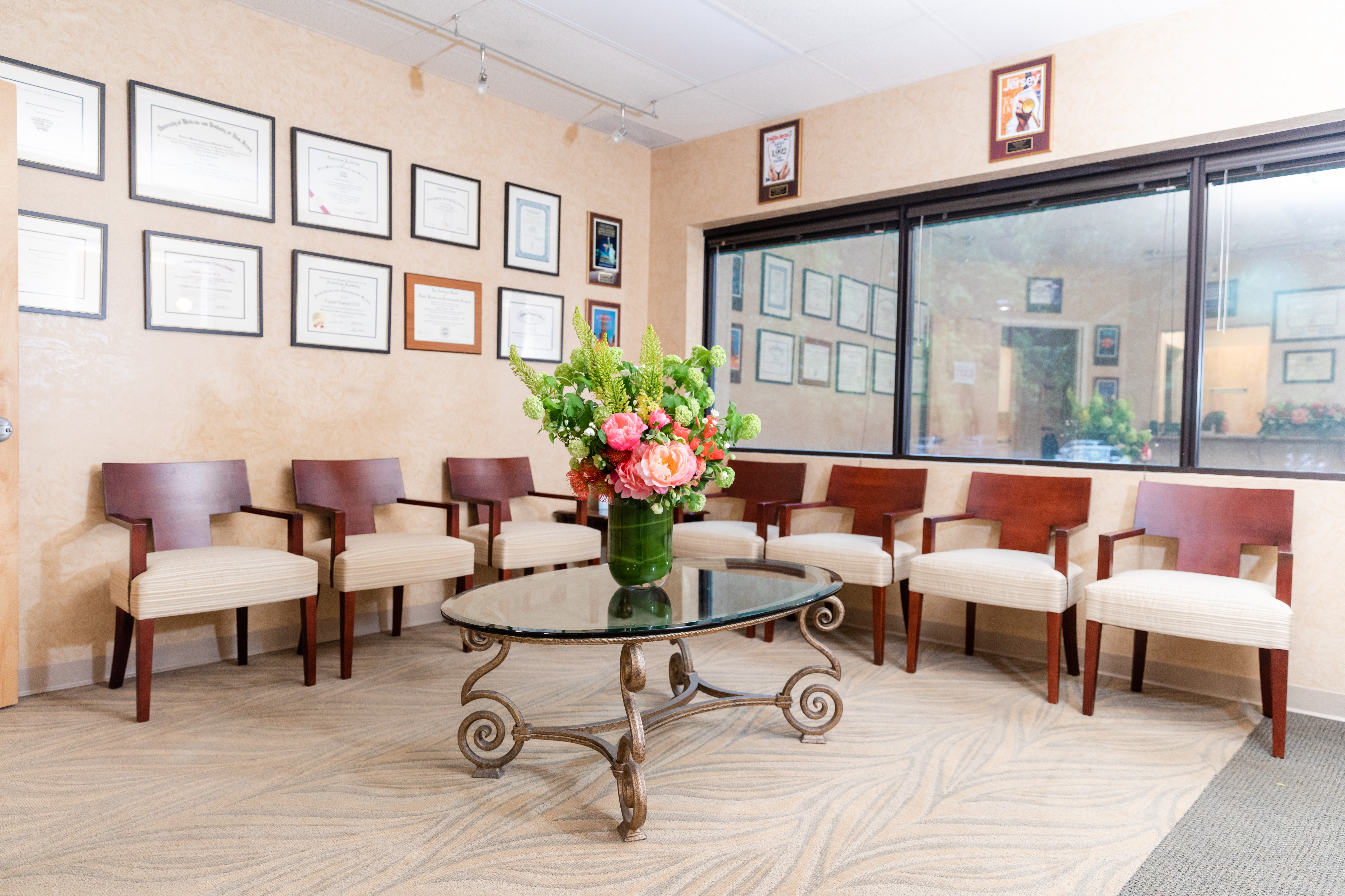 Waiting room at Dr. Eugenie Brunner's office in Princeton, NJ