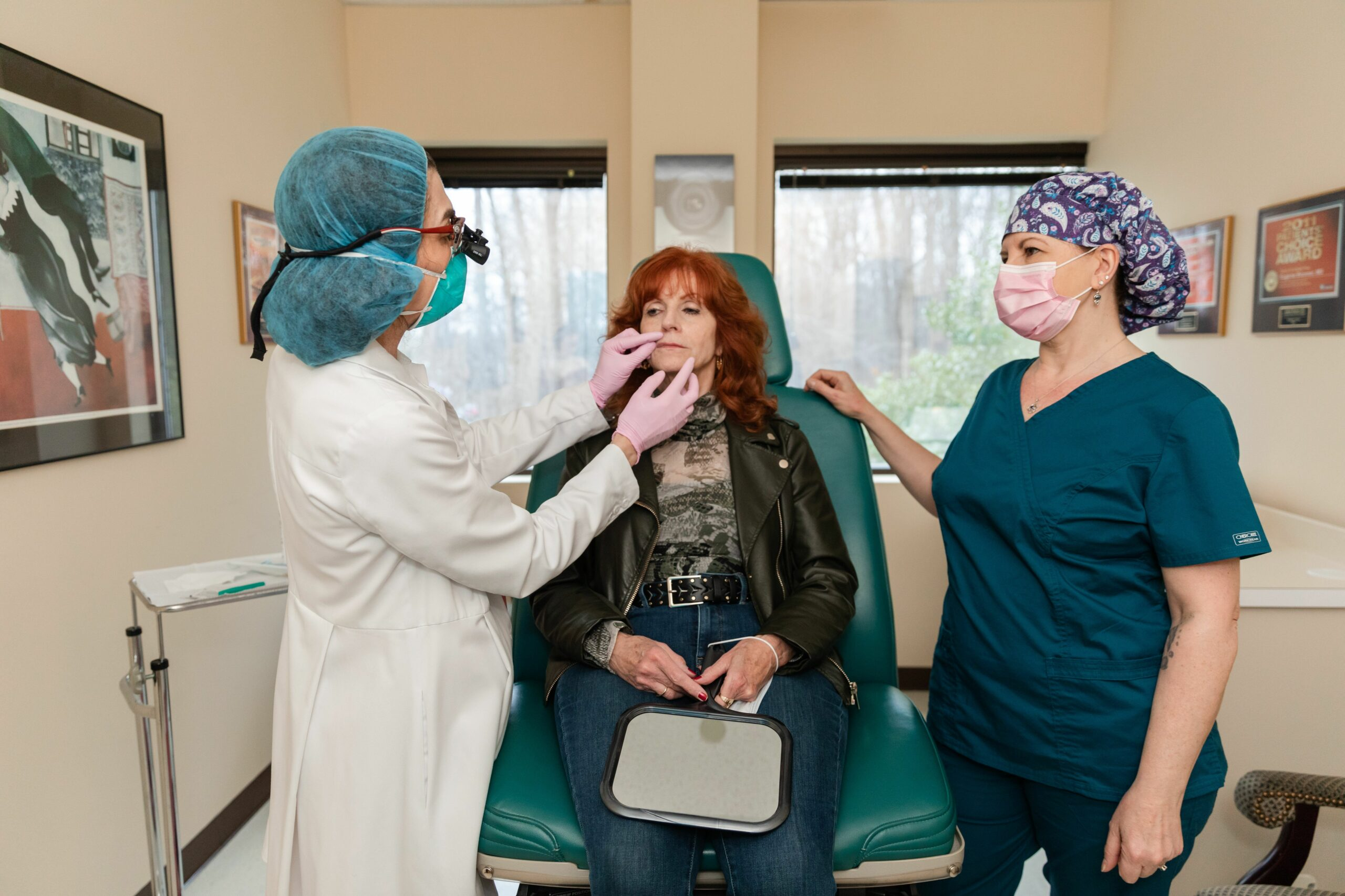 Dr. Brunner giving Botox to a patient in Princeton, NJ