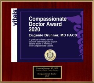 Dr. Eugenie Brunner won the compassionate Dr. award in 2020, New Jersey.